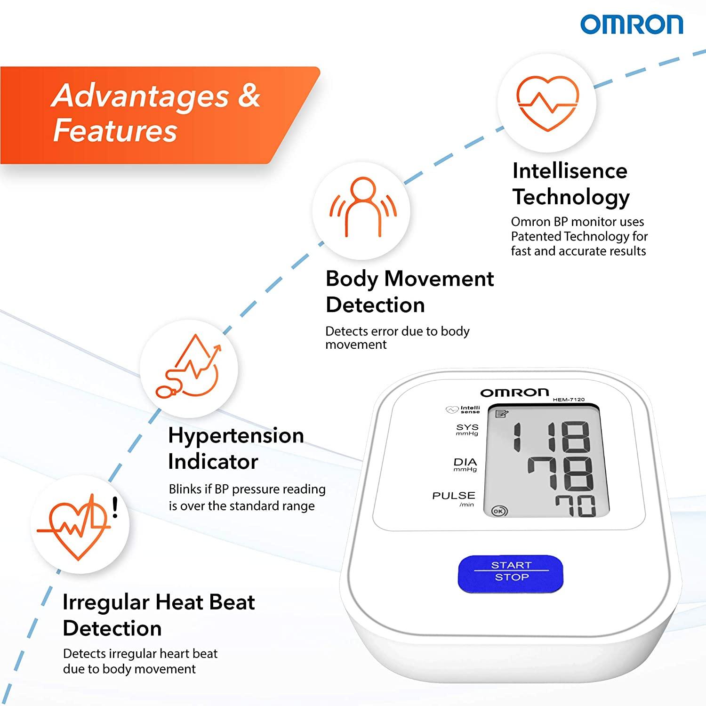 Omron HEM 20 Fully Automatic Digital Blood Pressure Monitor ...